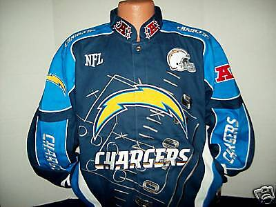 San Diego Chargers Nfl Score Board Twill Jacket   4X Free Shipping