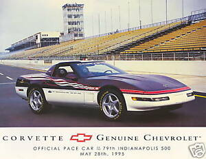 1995-CORVETTE-INDY-500-PACE-CAR-FACT-CARD-ORIGINAL