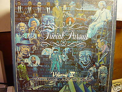 Trivial Pursuit A Genus Editon Volume 2     1987   100  Complete Used Game