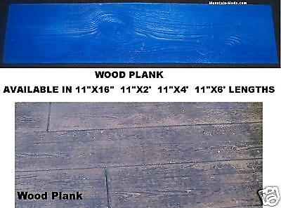 4' Floppy Wood Plank Woodgrain Decorative Concrete Cement Stamp Mat Vertical