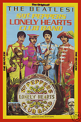 The Beatles *Sgt. Pepper* Capitol PROMO Poster 1967   LARGE 24x36