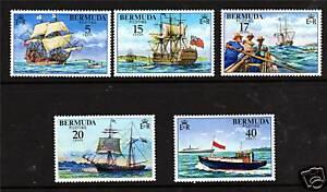 Bermuda-1977-Piloting-SG-379-83-MNH
