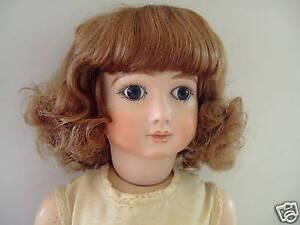 PERRUQUE 100% cheveux  naturels T16 (49.5 cm) pour POUPÉE ANCIENNE-bambola WIG  si affrettò a vedere