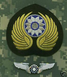 WWII-US-ARMY-AIR-FORCE-AVG-FLYING-TIGERS-CAP-PATCH-INSIGNIA-AND-PILOT-WING-SET