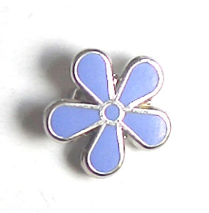 MASONIC FLOWER FORGET ME NOT ENAMEL LAPEL PIN BADGE
