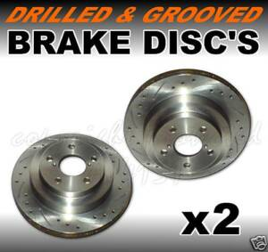 Drilled-Grooved-REAR-Brake-Discs-CITROEN-SAXO-VTS