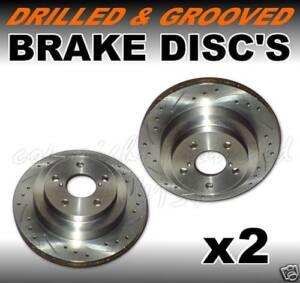 Drilled-Grooved-REAR-Brake-Discs-CITROEN-SAXO-VTS