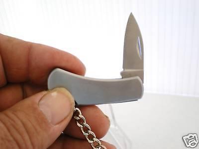 Tiny Key Pal Key Chain Pocket Knife Stainless