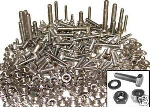 Stainless Steel Bolts, Nuts & Washers x 200, Kit Car M5,M6,M8