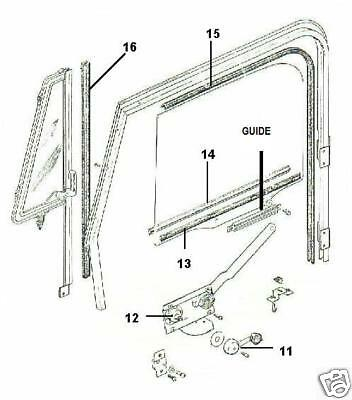 Jeep Parts Door Glass Window Regulator Guide New 1976 1995