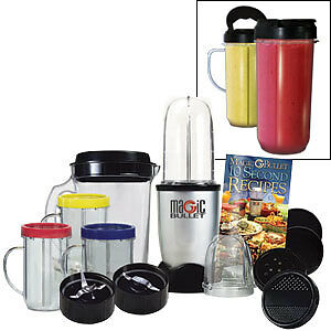 Magic Bullet Deluxe 25 piece Set Hi-Speed Blender/Mixer