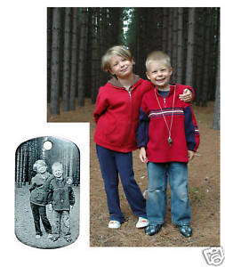 Personalized Laser Engraved Dog Tag - Custom Photo Etch