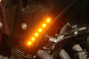 LED Strips indicator amber marker lights leds streetfighter trike 6 SMD x2