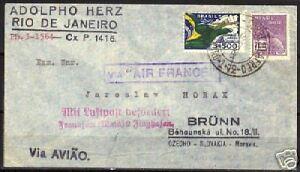 Brazil 1933 mixed franked airmailcover / postmarks! VF