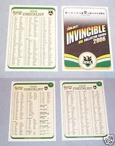 2006-RUGBY-LEAGUE-INVINCIBLE-CARDS-CHECKLISTS