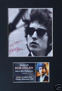 Bob Dylan Signed mounted photo display Music