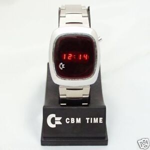 70's Commodore Led Watch, CBM Time, Chrome and Steel.