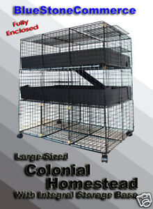 NEW-3-Level-2X3-Guinea-Pig-LARGE-Enclosed-Pet-CAGE
