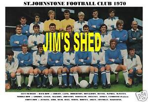 ST.JOHNSTONE F.C.TEAM PRINT 1970