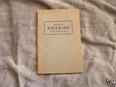 Directory Hobbies Blue Book Hobbyists 1949 Amrich