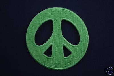 ECUSSON Brodé - PATCH Thermocollant - PEACE AND LOVE / 7cm / VERT / PATCHE