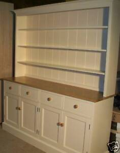 PAINTED & SOLID OAK WELSH DRESSER BESPOKE DISPLAY UNIT
