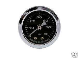 Liquid-Filled-Oil-Pressure-Gauge-0-60-psi-BLACK-face-Harley-Davidson