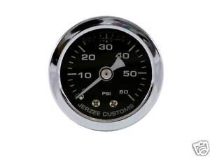 Liquid-Filled-Oil-Pressure-Gauge-0-60-psi-BLACK-face-Harley-Davidson