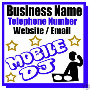 MOBILE-MUSIC-DJ-BUSINESS-MAGNETIC-CAR-VAN-SIGN