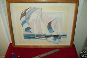 Listed American Artist, HARRY WYSOCKI, Litho on card in pastel