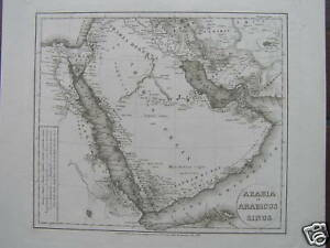 Medio-Oriente-Mappa-antica-carta-Antique-map-Arabia-et-Arabicus-Sinus-Reichard