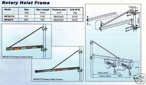 W&J Electric Hoist Swing Arm