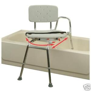 Snap N Save Sliding Transfer Bench 37662 W Swivel Seat Bath Safety Shower Chair