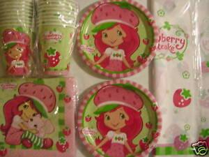 STRAWBERRY-SHORTCAKE-Birthday-Party-Supply-Pack-Kit-Set-for-16