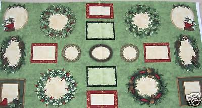 Elegant Greenery Quilt Labels Applique Cotton Fabric 19 Pcs .65 Yd L X 45w