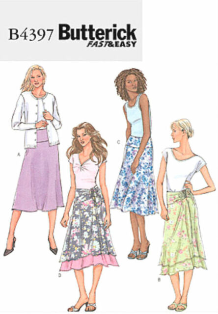 Butterick B4397 Misses Easy Skirts Sewing Pattern Size 14 16 18 20