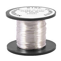 25M SILVER PLATED COPPER TIARA/CRAFT/BEADING WIRE 0.5mm