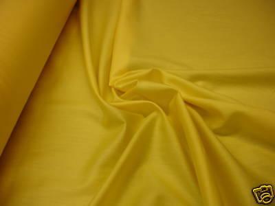 1 Laufmeter Baumwollsatin gelb P11 nur 1,72€/m²
