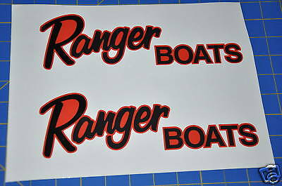Ranger Boats Sticker Red Black Bass Fish Boat Decal