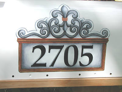 Mailbox Magnet Partial Cover  Fleur De Lis White  Personalized Mail Box