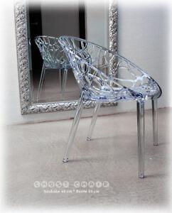 acryl ghost plexiglas stuhl polycarbonat transparent klar armlehnstuhl stabil ebay. Black Bedroom Furniture Sets. Home Design Ideas