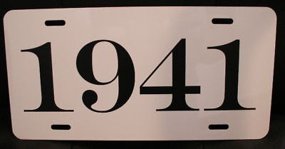 1941 Year License Plate Fits Chevy Ford Chrysler Buick Packard Nash Willys Dodge