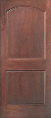 Cherry 2 Panel Arch Top Raised Panels Stain Grade Solid Core Interior Wood Doors Ebay