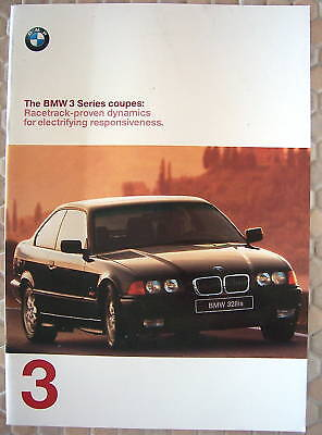 BMW OFFICIAL 3 SERIES COUPE PRESTIGE SALES BROCHURE 1999 USA EDITION
