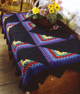 Details about Patchwork Quilt Style Crochet Afghan Patterns Book Star