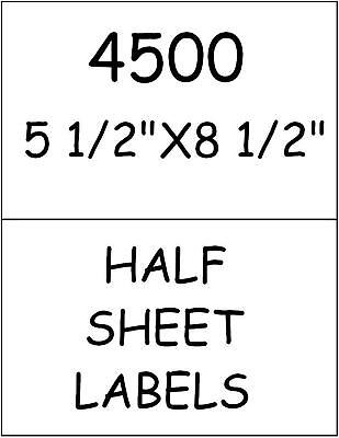 4500 Quality Half Sheet Labels For Paypal Shipping