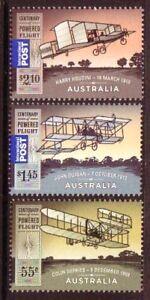 AUSTRALIA-2010-POWERED-FLIGHT-SET-OF-3-UNMOUNTED-MINT