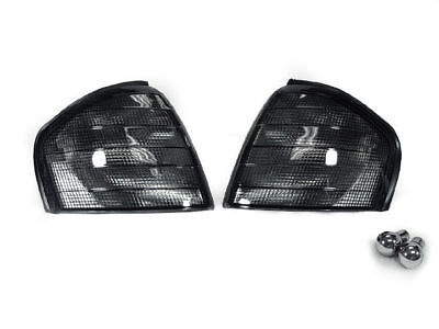 94-00 Mercedes Benz W202 C Class Euro Smoke Corner Signal Light + Chrome Bulb