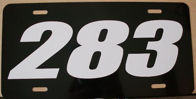 283 Engine Size License Plate Fits Chevy Gasser Impala