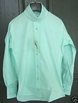 NWT PALE HORSE DESIGNS Girls Long Sleeve Mint Green Daisy Chain Horse Show Shirt